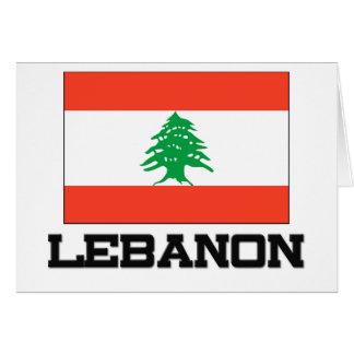 Bandera de Líbano Felicitación