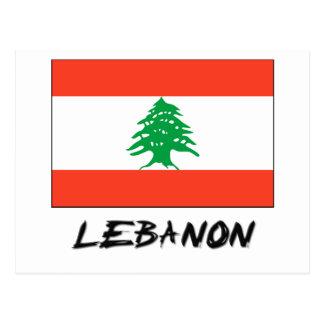 Bandera de Líbano Postal