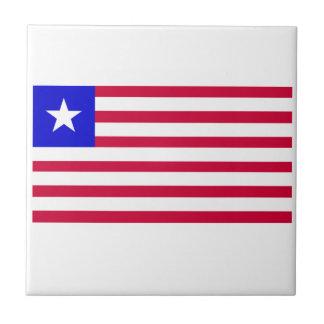 Bandera de Liberia Azulejo Cuadrado Pequeño