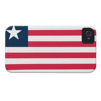 Bandera de Liberia iPhone 4 Case-Mate Fundas