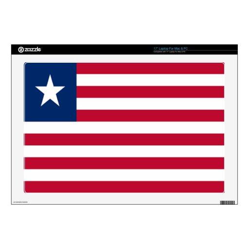 Bandera de Liberia Portátil 43,2cm Skins