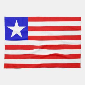 Bandera de Liberia Toallas De Cocina