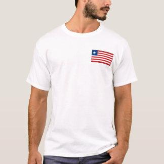 Bandera de Liberia y camiseta del mapa