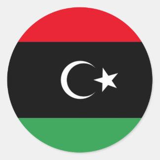 Bandera de Libia libre Pegatina Redonda