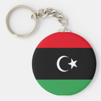 Bandera de Libia Llavero Redondo Tipo Pin