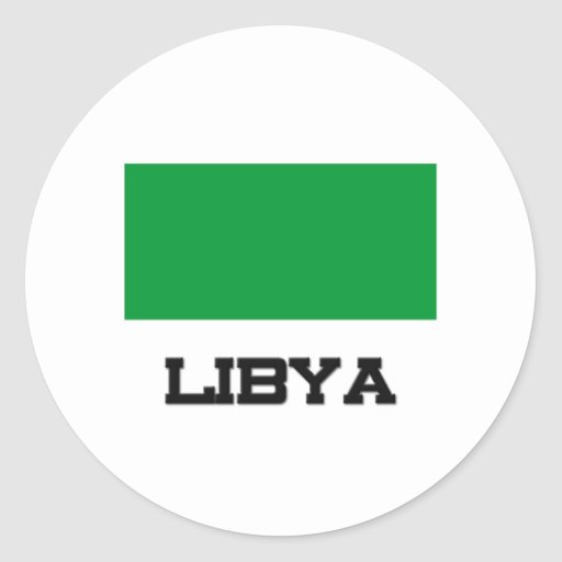 Bandera de Libia Pegatina Redonda