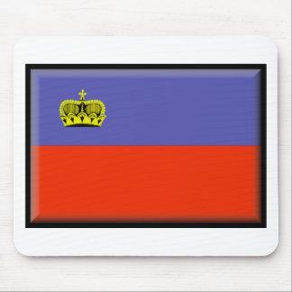 Bandera de Liechtenstein Alfombrillas De Ratón