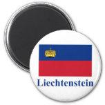 Bandera de Liechtenstein con nombre Iman De Frigorífico