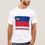 Bandera de Liechtenstein con nombre Playera