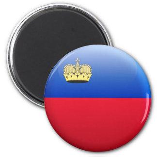 Bandera de Liechtenstein Imán Redondo 5 Cm