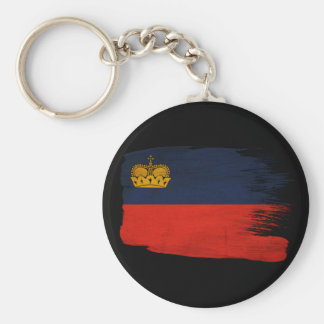 Bandera de Liechtenstein Llavero Redondo Tipo Pin