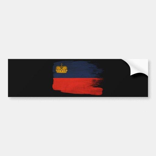 Bandera de Liechtenstein Pegatina De Parachoque