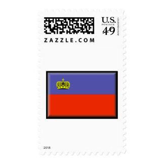 Bandera de Liechtenstein Franqueo