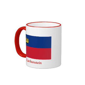 Bandera de Liechtenstein Taza De Dos Colores