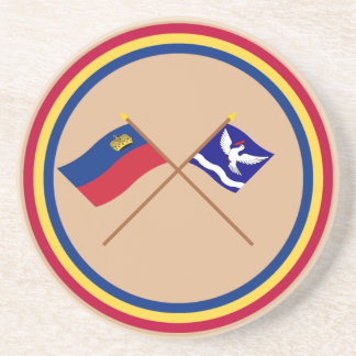 Bandera de Liechtenstein y bandera heráldica de Es Posavasos Diseño
