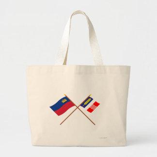 Bandera de Liechtenstein y bandera heráldica de Sc Bolsa Tela Grande