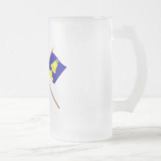 Bandera de Liechtenstein y bandera heráldica de Taza De Cristal