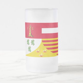 Bandera de Liège Taza Cristal Mate