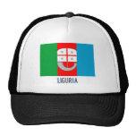 Bandera de Liguria con nombre Gorro