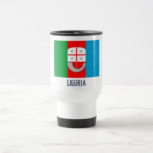 Bandera de Liguria con nombre Taza Térmica