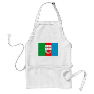Bandera de Liguria (Italia) Delantal