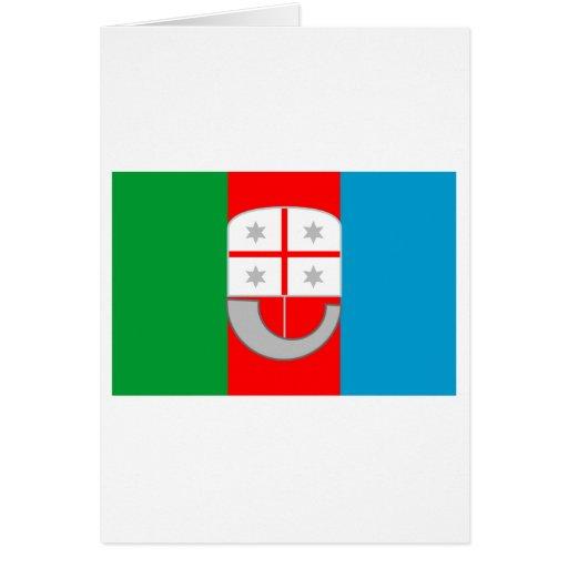 Bandera de Liguria Tarjeton
