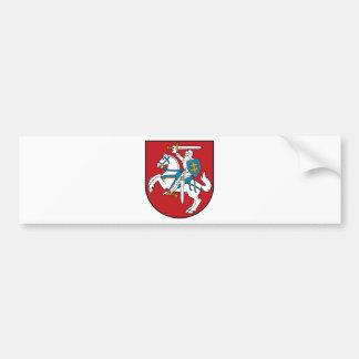 Bandera de Lituania Pegatina De Parachoque
