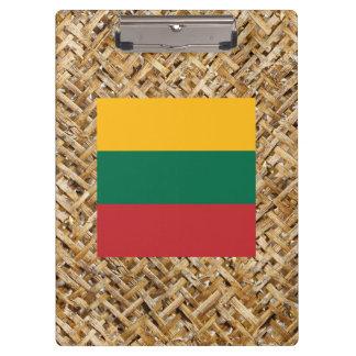 Bandera de Lituania en la materia textil temática