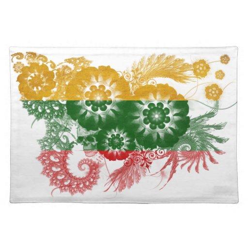 Bandera de Lituania Manteles Individuales