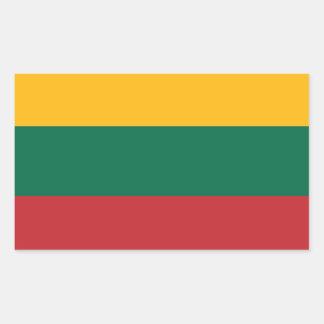 Bandera de Lituania Pegatina Rectangular