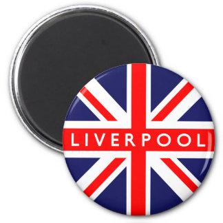 Bandera de Liverpool Reino Unido Imán Redondo 5 Cm