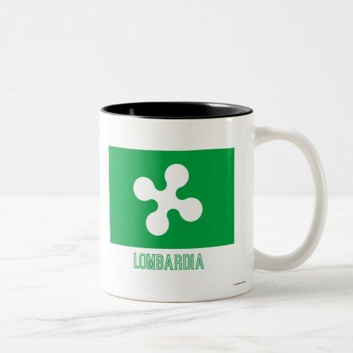 Bandera de Lombardia con nombre Taza De Café