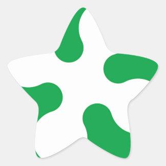 Bandera de Lombardía (Italia) Pegatina En Forma De Estrella