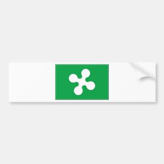 Bandera de Lombardía (Italia) Pegatina Para Auto