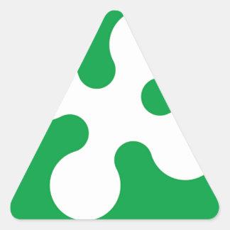 Bandera de Lombardía (Italia) Pegatina Triangular