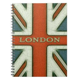 Bandera de Londres Reino Unido Cuaderno