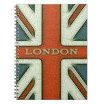 Bandera de Londres Reino Unido Libreta Espiral