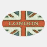 Bandera de Londres Reino Unido Colcomanias De Óval Personalizadas