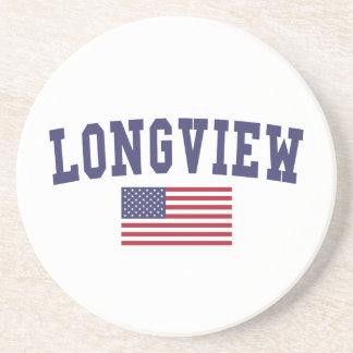 Bandera de Longview WA los E.E.U.U. Posavasos Manualidades
