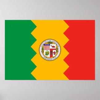 Bandera de Los Ángeles Póster