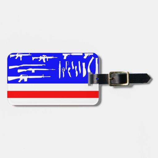 Bandera de los armas etiquetas para equipaje