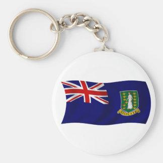 Bandera de los British Virgin Islands Llavero Redondo Tipo Pin