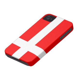 Bandera de los casos del iPhone 4/4S de Dinamarca Case-Mate iPhone 4 Cobertura