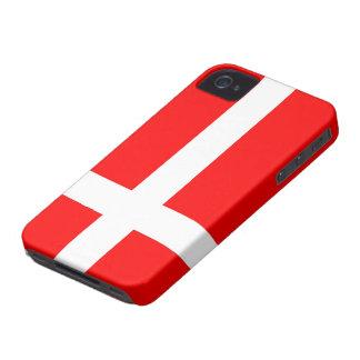Bandera de los casos del iPhone 4/4S de Dinamarca iPhone 4 Cárcasas