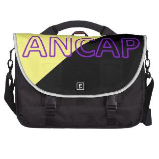 Bandera de los colores y del texto de ANCAP Bolsas Para Portatil