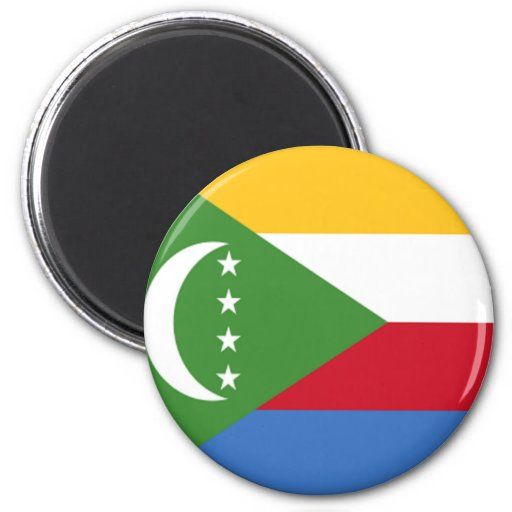 Bandera de los Comoro Imán Redondo 5 Cm