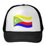 Bandera de los Comoro que agita Gorro De Camionero