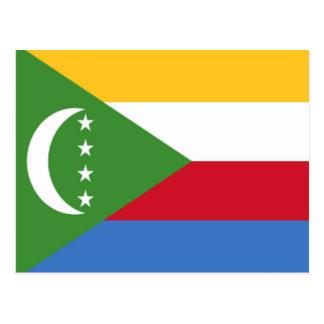 Bandera de los Comoro Tarjetas Postales