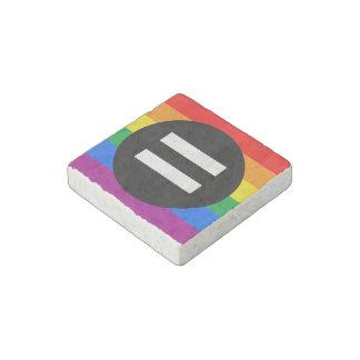 Bandera de los derechos de los homosexuales imán de piedra
