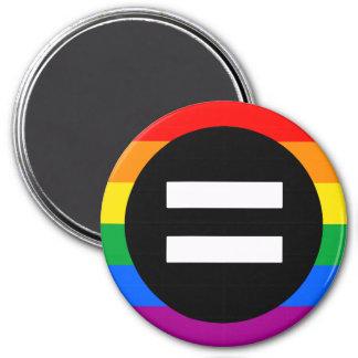 Bandera de los derechos de los homosexuales imán redondo 7 cm